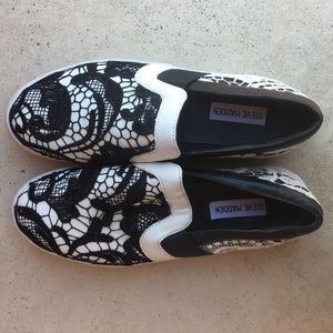 Lace Overlay Slip-Ons